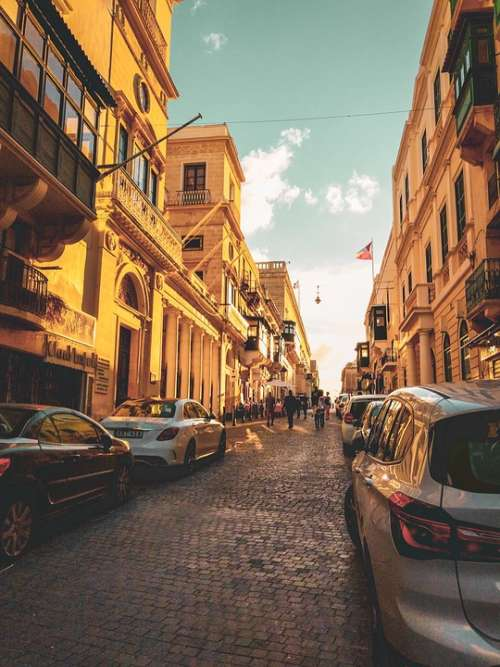 Europe Malta Streetscapes Streets Island Baroque