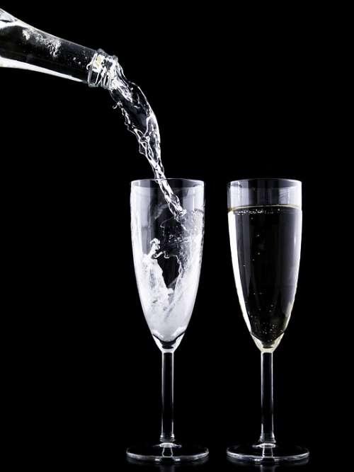 Eve Drink Crystal Festive Glass Year Toast New