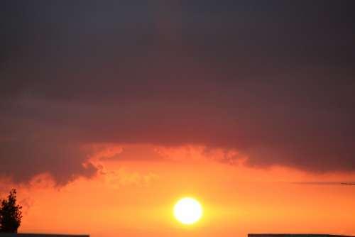 Evening Storm Nature Atmosphere Sky