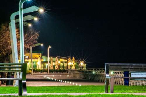 Evening Promenade Night Landscape