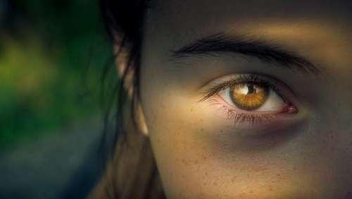 Eye Iris Pupil View Focus Woman Close Up