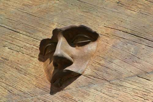 Face Sculpture Rome Italy Art