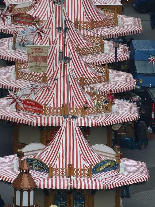 Fair Christmas Market Magdeburg Saxony-Anhalt View
