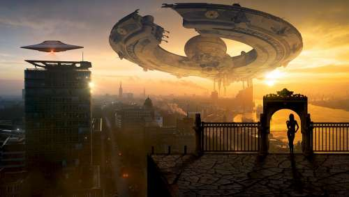 Fantasy Science Fiction Forward Ufo Spaceship