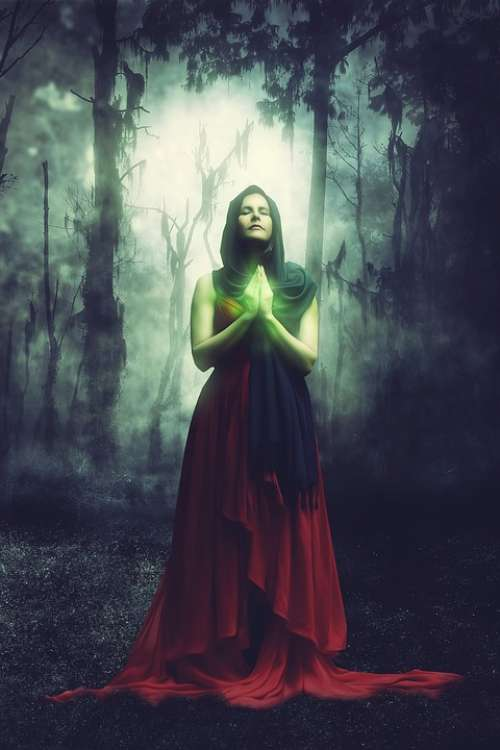 Fantasy Forest Magic Surreal Artistic Woman