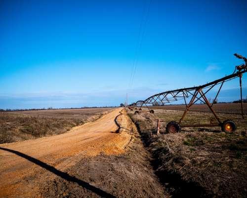 Farm Irrigation Agriculture Farming Water Field
