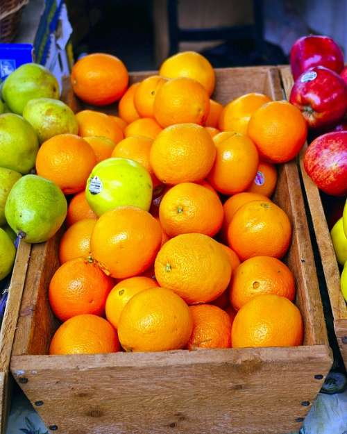 Farmers Market Fruit Oranges Fruit Apples Orange