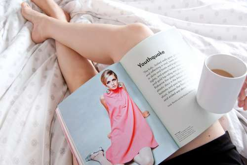 Fashion Book Album Girl Reading Woman Education