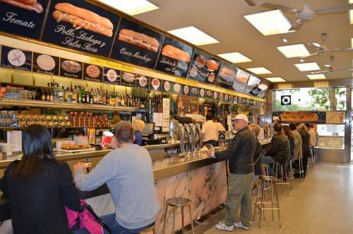 Fast Food Restaurant Cafe Madrid Spain