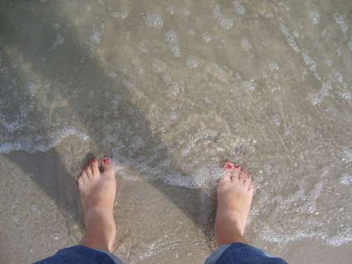 Feet Sea Holiday The Rate Of Relaxation Barefoot