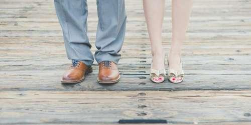 Feet Man Woman Shoes Footwear Elegant Boardwalk