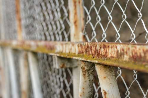 Fence Wire Mesh Goal Iron Grid Rust Old Weather