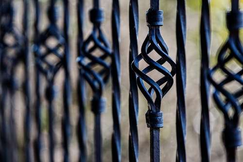 Fence Railing Wrought Iron Barrier Restriction