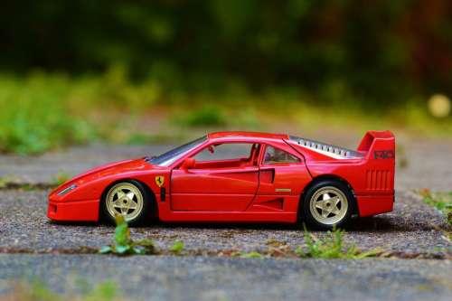 Ferrari Red Auto Sports Car Model Car Vehicle