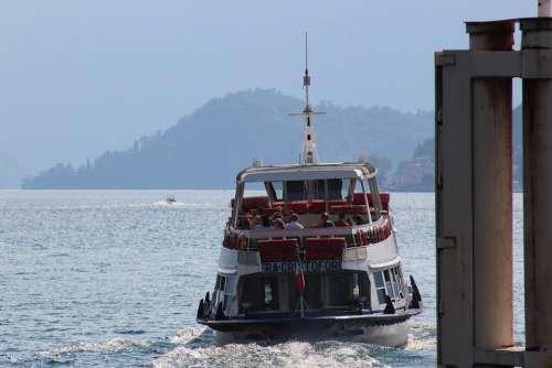Ferry Boat Ship Water Sea Ocean Tourism Blue