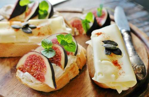 Fig Cheese Bread Baguette Eat Healthy Food