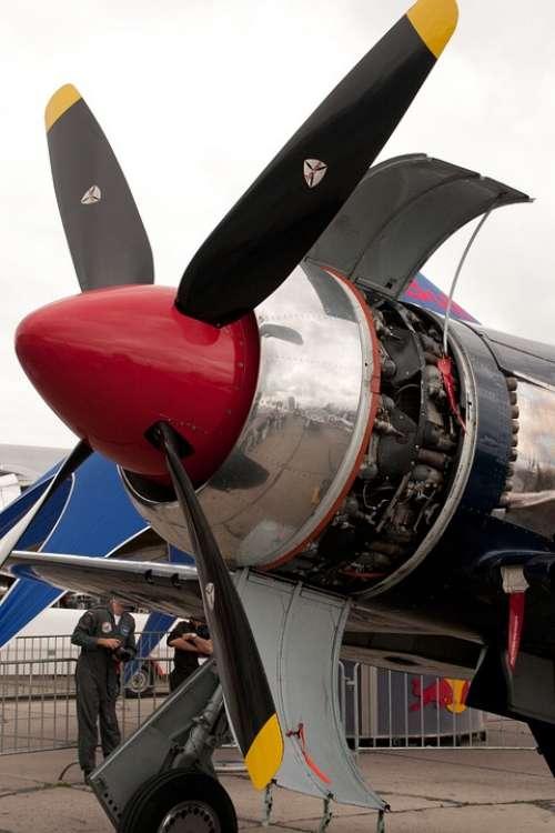 Fighter Aircraft Motor Propeller Engine Aviation