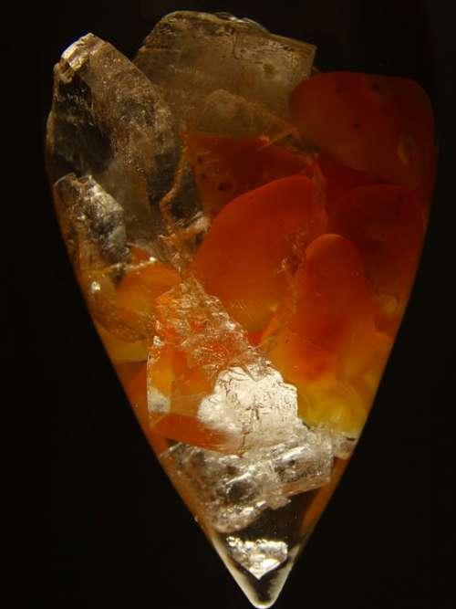 Fiole Quartz Gems Inserted Orange Treatment