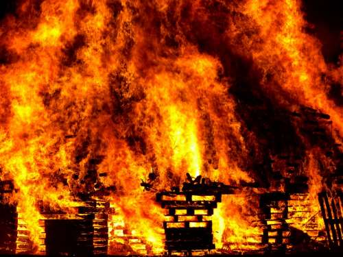 Fire Burn Hell Warm Heat Flame Blaze Radio