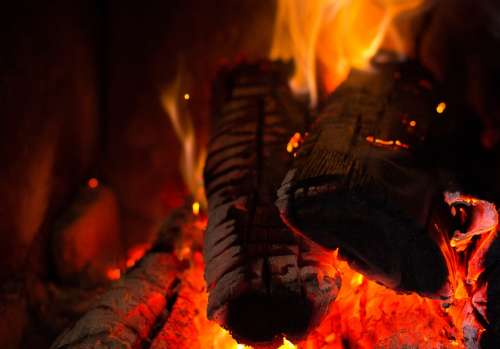 Fire Lena Flame Fireplace Campfire Burn Hot Heat