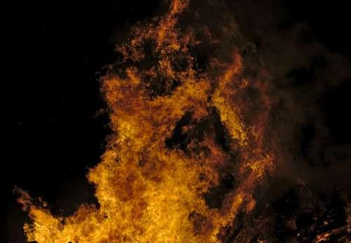 Fire Flames Hot Burn Heat Bonfire