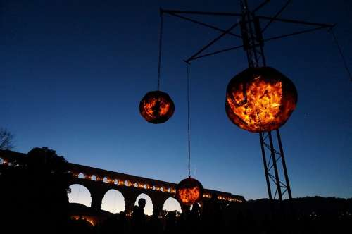 Fire Flame Bridge Burn Ball