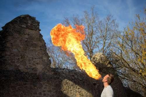 Fire Haunt Fire Flamen Burn Heat Background Hot