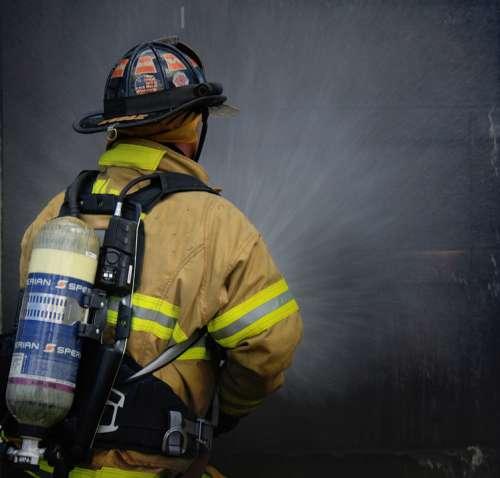 Firefighter Fireman Fire First Responder Hose
