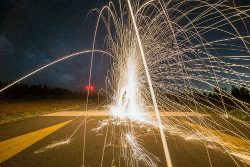 Firework Night Light Fire Sparks Celebration