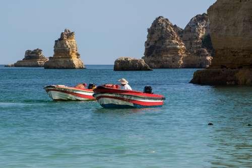 Fishermen Boat Sea Outdoor Recreation Shore Cliff