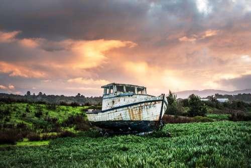 Fishing Boat Ship Boat Fishing Wooden Boat