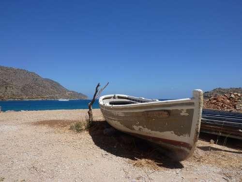 Fishing Boat Crete Vacations Idyllic