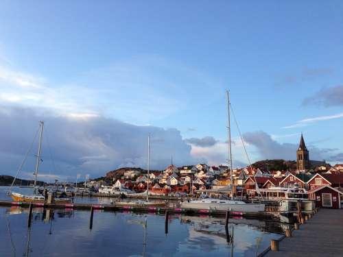Fjällbacka Sweden Archipelago Bohuslan Harbor