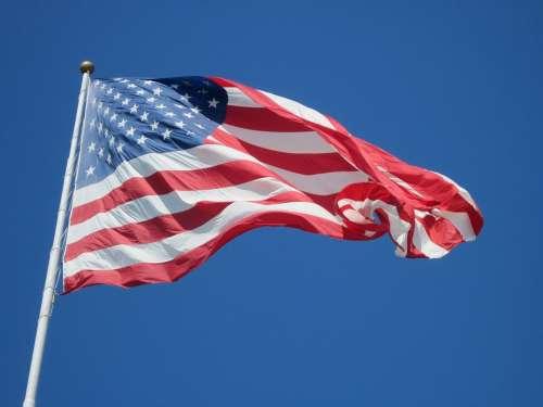 Flag Usa Symbol Stripes