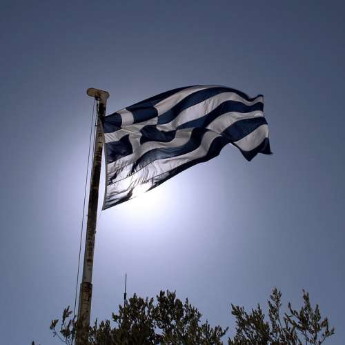 Flag Greece Athens Greek
