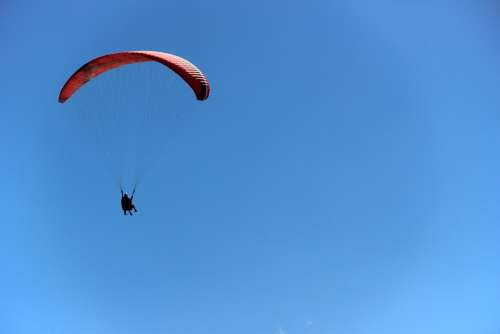 Flight Paragliding Sky Freedom Clouds Sport