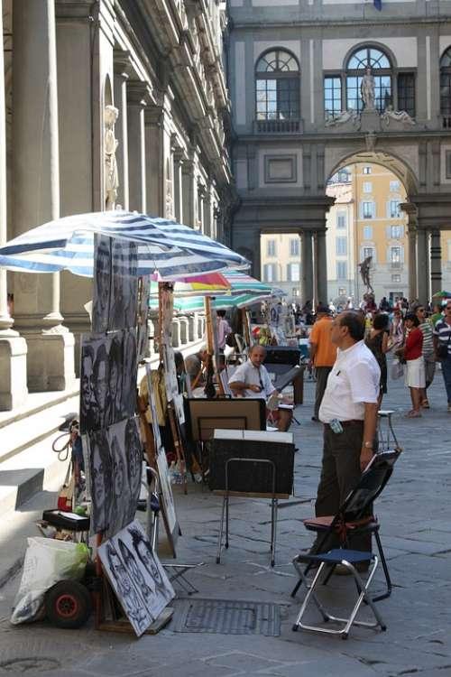 Florence Street Etalage Italy