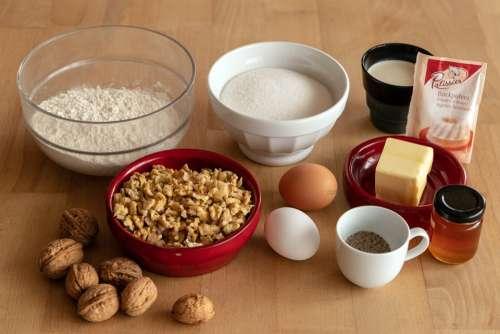 Flour Egg Cake Ingredients Bake Sugar Butter
