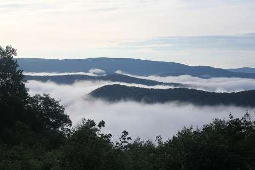 Fog Mountains Appalachia West Virginia