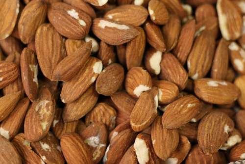 Food Almonds Healthy Nutrition Snack