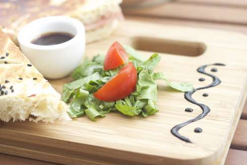 Food Board Tomato Cuisine Wooden Natural Kitchen