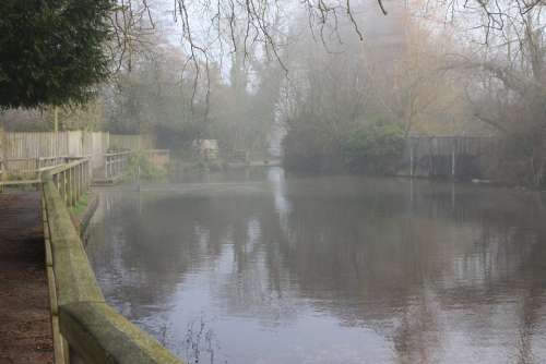 Ford North Warnborough Water Reflection Misty