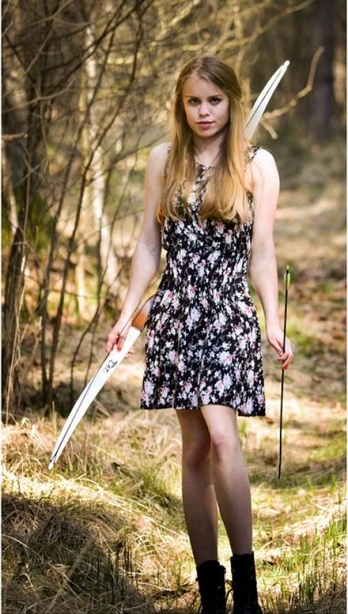 Forest Arch Beauty Woman Girl Nature Dress Sexy