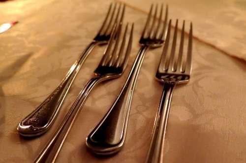 Forks Cutlery Kitchen Cutlery Silver