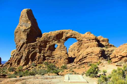 Formation Of Turret Arch Arches National Park