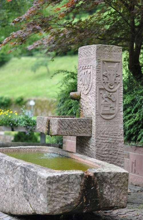 Fountain Wittichen Monastery Water