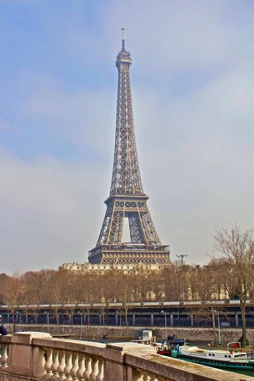 France Paris Eiffel Tower Architecture Landmark