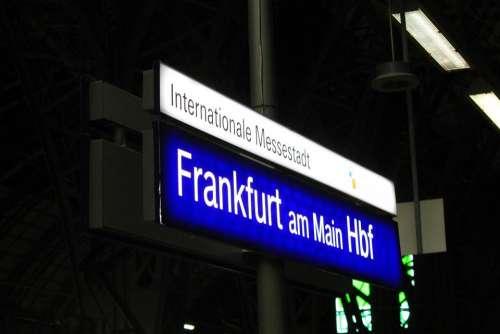 Frankfurt Main Railway Station Fair Trade Fair City