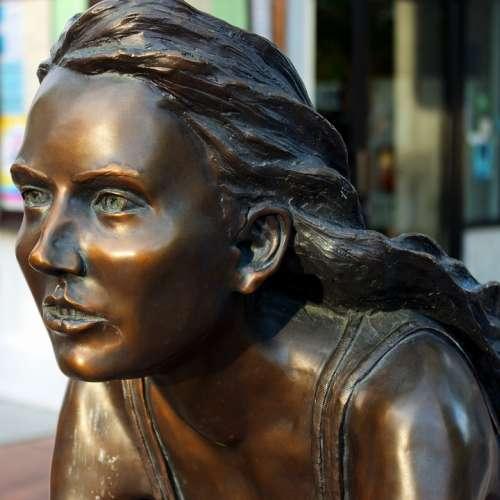 Freewheelin Bronze Sculpture Young Female Grand