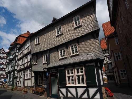 Fritzlar Fachwerkhäuser Downtown Historic Old Town